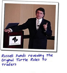 Russell Sands revealing the Original Turtle Rules to traders who are using them now.