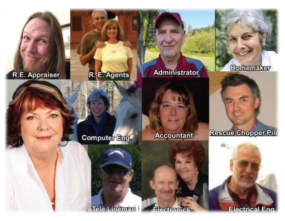 Faces of various members that provided testimonials on the page